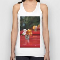 aperture Tank Tops featuring The red table by Nina's clicks