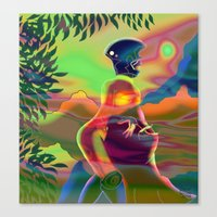 psychedelic Canvas Prints featuring Psychedelic by Grant Wilson