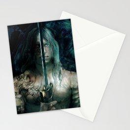 warrior inside Stationery Cards