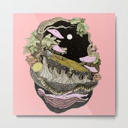 narute pink back Metal Print