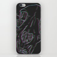 animal skull iPhone & iPod Skins featuring 3-D ANIMAL SKULL by CreepQueen