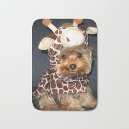 Yorkie | Puppy | Dogs | Sweet Giraffe Costume | Yorkshire Terrier Bath Mat