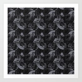 Tentacle Pattern Art Print