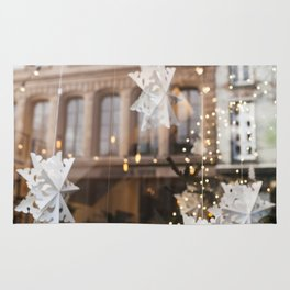 Window Reflections  //  Christmas in the City Rug