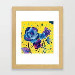 Small Floral Framed Art Print