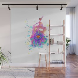 Colorful Watercolor Flower Wall Mural