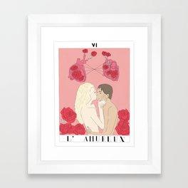 l'amureux - the lovers Framed Art Print