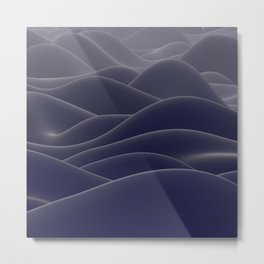 Blue ocean of wax Metal Print