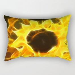Flame Petaled Sunflowers Rectangular Pillow