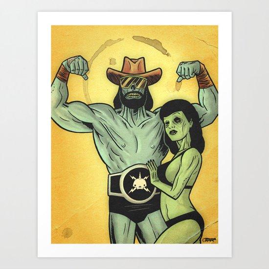 Deadman Savage & Deadie Page Art Print