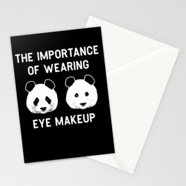 The importance of wearing eye makup - Funny Panda Gift Stationery Cards