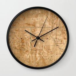 Map Of Arizona 1860 Wall Clock