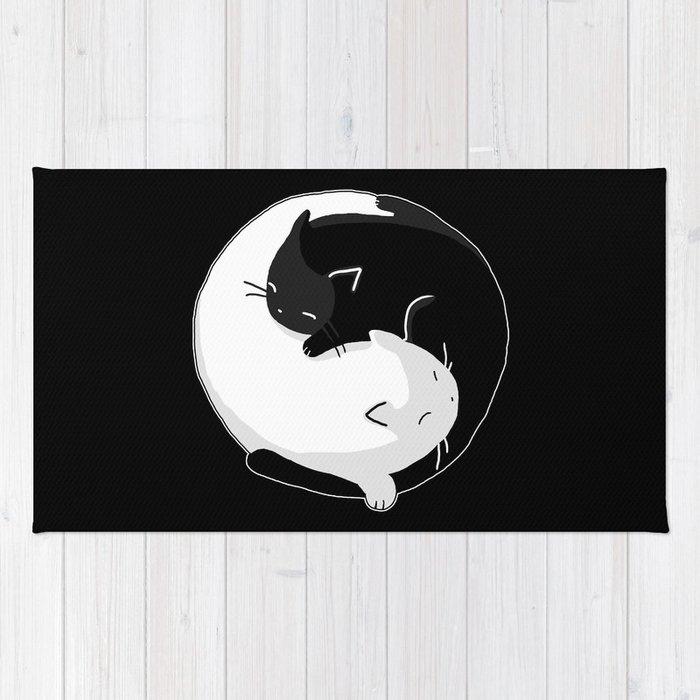 Yin Yang Cats Rug