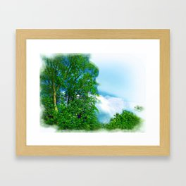 Air Brushed Skyscape Framed Art Print