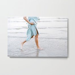 Feet in the water | Young woman at the beach | Ocean fine art photography Metal Print