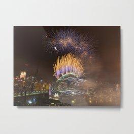 New Years Eve Fireworks, Sydney Metal Print