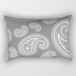Silver paisleys Rectangular Pillow