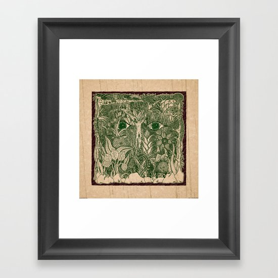gaia mandala Framed Art Print
