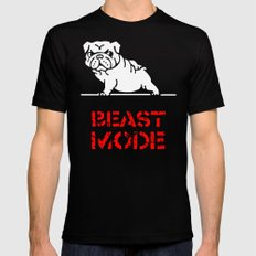 Beast Mode English Bulldog Mens Fitted Tee Black LARGE