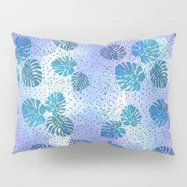 Blue Monstera Pillow Sham