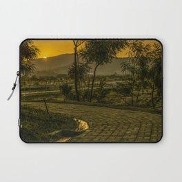 Tropical Landscape Sunset Scene Laptop Sleeve