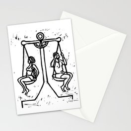 Balancing the Sexes Stationery Cards