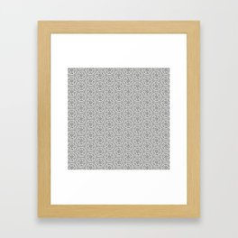 Going Round and Round - Stone Grey Framed Art Print
