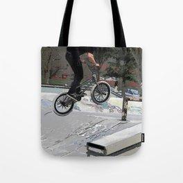 """Getting Air"" - BMX Rider Tote Bag"
