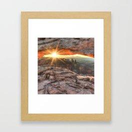 Mesa Arch Canyon Canyonlands Sunrise - Square Format Framed Art Print