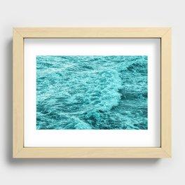 Ocean Water Splash Recessed Framed Print