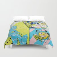 health Duvet Covers featuring Mental Health by Frenemy