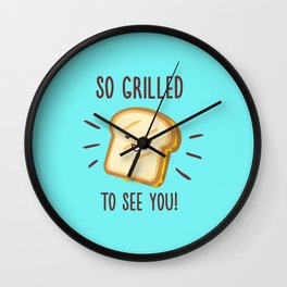 Cheesy Greetings! Wall Clock