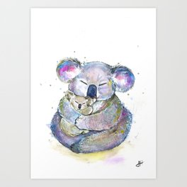 Kuddly Koalas Art Print