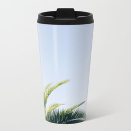 Green Palm Tree Metal Travel Mug