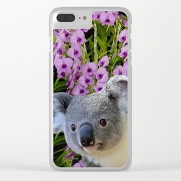 Koala and Orchids Clear iPhone Case