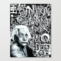 einstein Canvas Prints featuring Einstein.  by Will Santino
