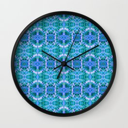 Psychedelic Kaleidoscope Sea Foam Pattern Wall Clock