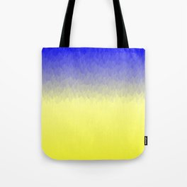 Sky and Sun -- Blue yellow ombre flames Tote Bag