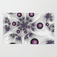 fractal Area & Throw Rugs featuring Fractal by gabiw Art