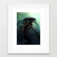 xenomorph Framed Art Prints featuring Xenomorph by MATT DEMINO