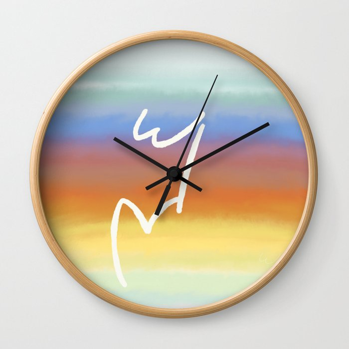 W&V Rises with the Sun Wall Clock