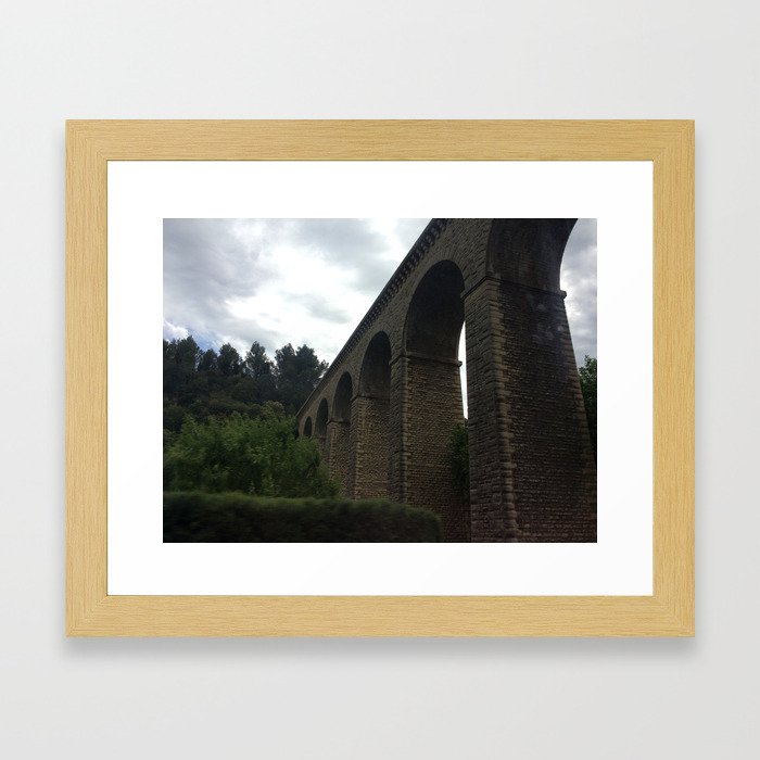 Aqueduct in Provence Framed Art Print