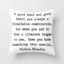 4   Nelson Mandela  Quotes   190818 Throw Pillow