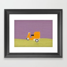 Enjoy The Ride Truck Framed Art Print