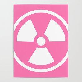Pink Radioactive Symbol Poster