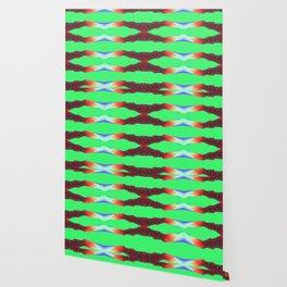 Neon Green Disco Waves Wallpaper