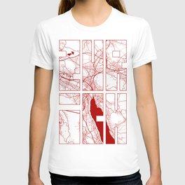 Zurich City Map of Switzerland - Oriental T-shirt