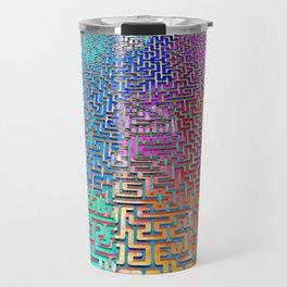 Rainbow Complex Maze Travel Mug