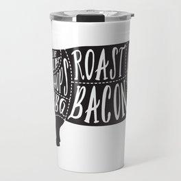 Butchers diagram | pork Travel Mug