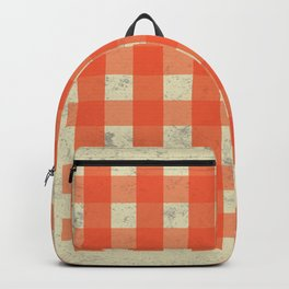 red & white map Backpack